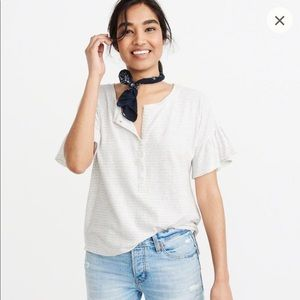 Abercrombie & Fitch - Ruffle Sleeve Henley